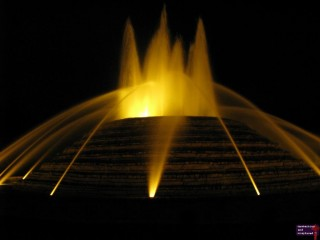 This fountain is located in Lake Carolina, a housing subdivision.  The company my mom works for made it.