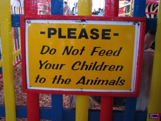 I've been to the fair only about a half a dozen times, and I have never seen this sign.  It made me laugh.