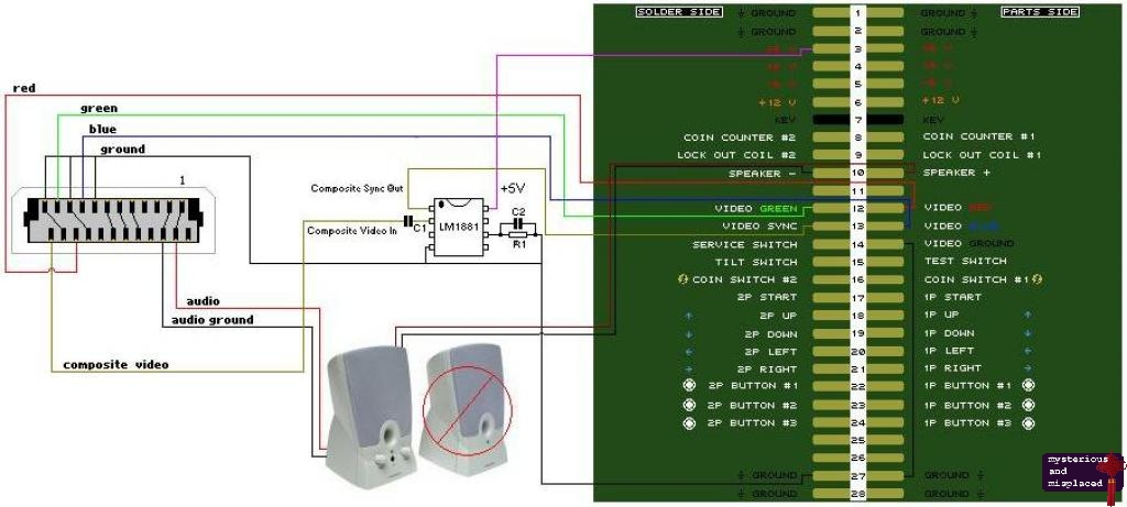 xbox to jamma - Mysterious and Misplaced Logic of a Maniac ... Jamma Harness Wiring Guide on