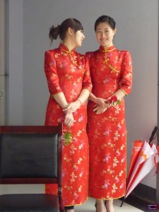 Chinese women in traditional dresses.